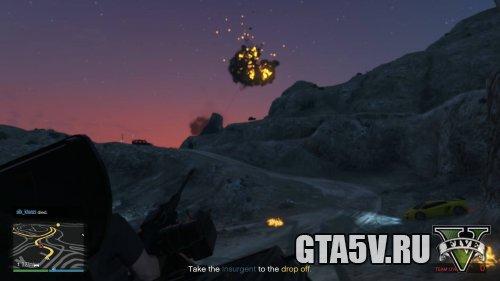 The Humane Labs Raid - Insurgent - Сбитый вертолет