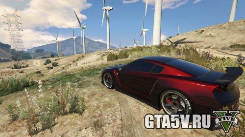 GTA 5 Мод Nissan GTR - красный экстерьер