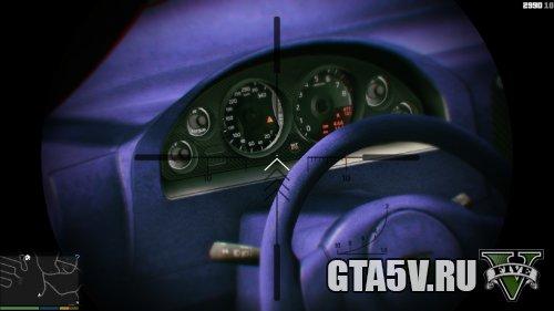 GTA 5 Мод Nissan GTR - синий интерьер