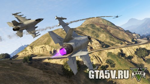 ГТА 5 Онлайн Воздушные Гонки на Истребителях Lazer
