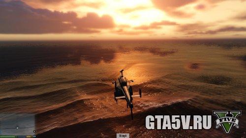 Мод на ГТА 5 - Реалистичная вода в море