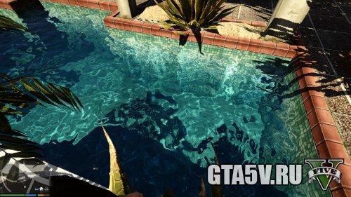 Мод на ГТА 5 - Реалистичная вода в бассейнах