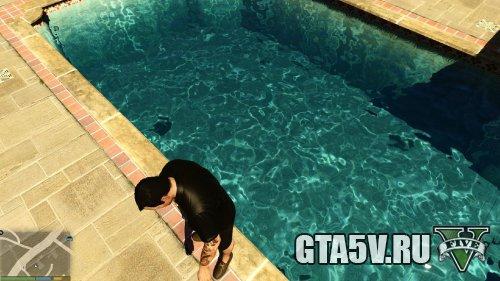 Мод на ГТА 5 - Реалистичная вода в бассейнах 2 скриншот