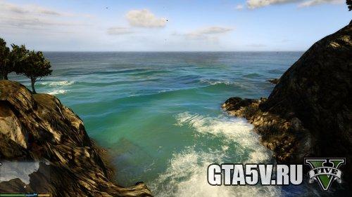 Мод на ГТА 5 - Реалистичная вода в прудах 2 скриншот