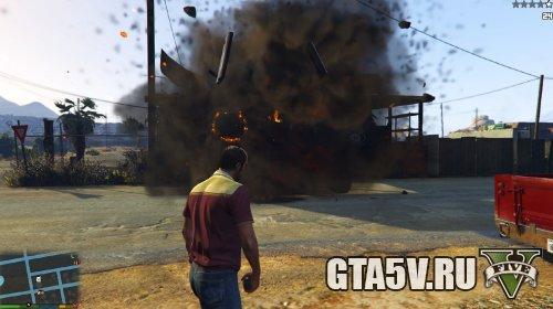 Мод на ГТА 5 Улучшенные взрывы — Enhanced Explosions - Большие взрывы