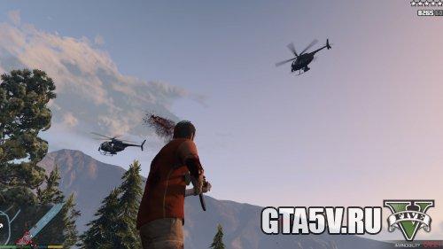 Мод на ГТА 5 Армия — Военные на вертолете при 5 звездах