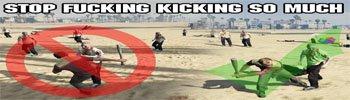 Мод Stop Kicking на ГТА 5 — Перестает Бить Ногами, когда в руке холодное оружие