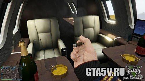 гта 5 курить в люксовом самолете