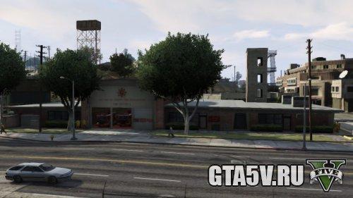 El Burro Heights Fire Station GTAV Пожарная станция в ГТА 5
