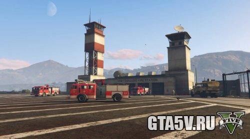 Fort Zancudo GTAV fire station Пожарная станция в ГТА 5