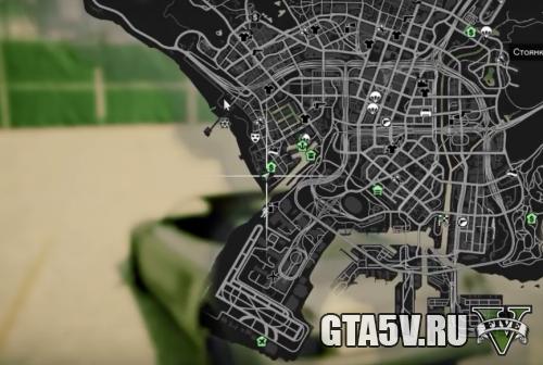 местоположение машины для дрифта на карте ГТА 5
