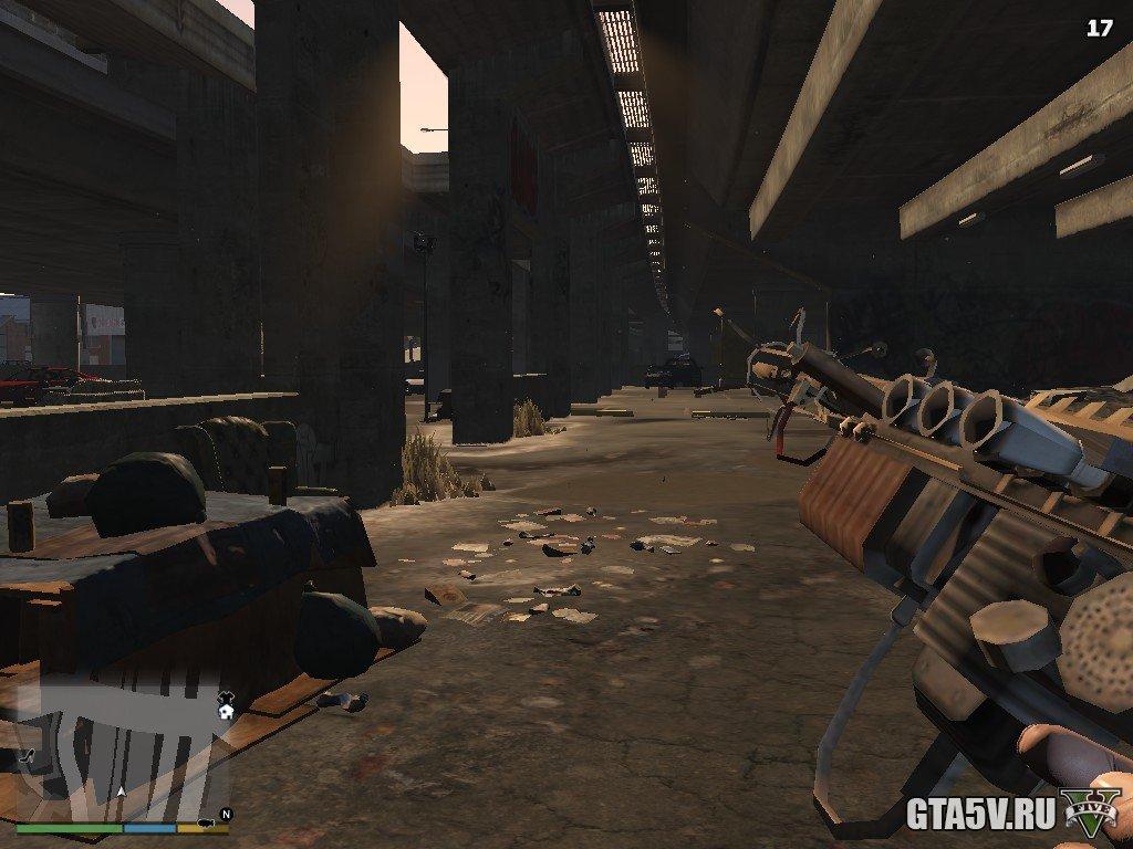 Мод ГТА 5 Оружие Wunderwaffe DG-2 из COD Zombies