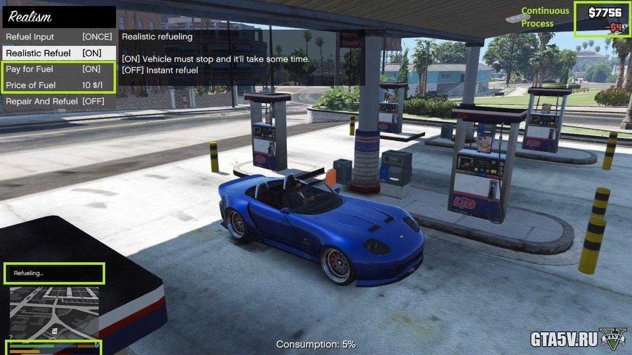 Бензин для ГТА 5