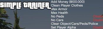 Simple Trainer для ГТА 5 — Симпл Трейнер