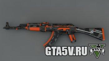 ГТА 5 АК 47 автомат мод