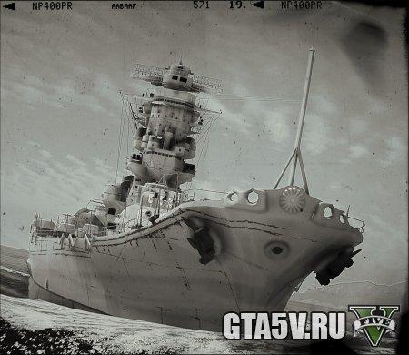 Yamato-Class Battleship мод на гта 5